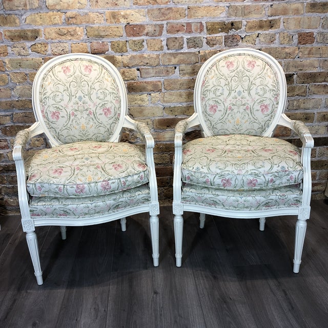 1930s Vintage French Style Upholstered Chairs- a Pair For Sale - Image 13 of 13