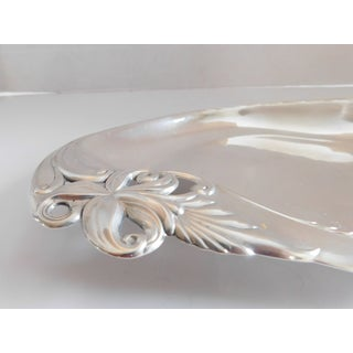 Mid Century Sterling Silver Wallace Orchid Elegance Bread Tray Preview