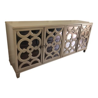 Transitional Drexel Heritage Mirrored Sideboard For Sale