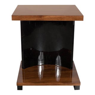 Streamline Art Deco Machine Age End Table by the Modernage Company For Sale