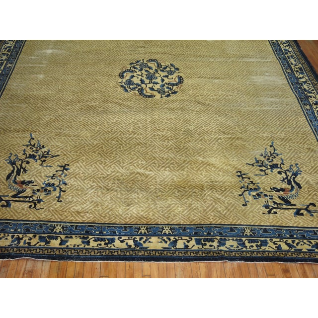 Art Deco Overisze Antique Chinese Rug, 13'3'' X 17'9'' For Sale - Image 3 of 13