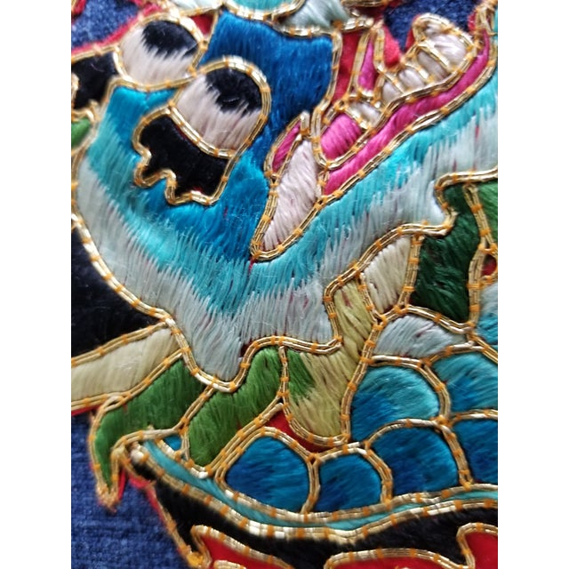 Art Deco Art Deco Chinese Opera Robe Pillow Fragment For Sale - Image 3 of 6