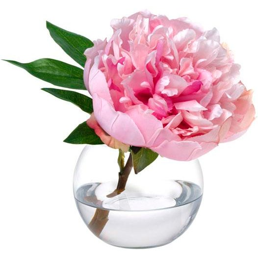 A pretty pink peony takes center stage in a glass bowl - a lovely gift for a loved one or for yourself! Hand-made to order...