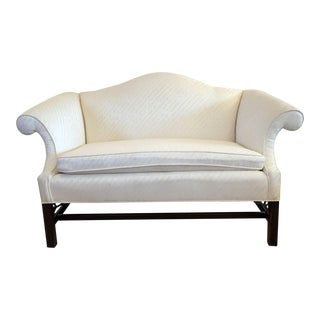 Vintage Chippendale Camelback Sofa