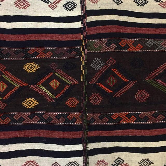 Textile MidCentury Palace-Size Turkish Kilim | 15'1 X 15'11 For Sale - Image 7 of 9
