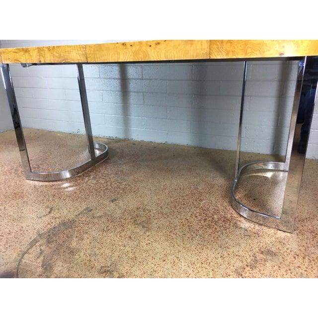 Milo Baughman Burlwood Dining Table - Image 4 of 10