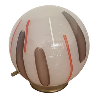 Murano Glass Round Lamp For Sale