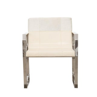 Contemporary Cream Leather Dining Chair
