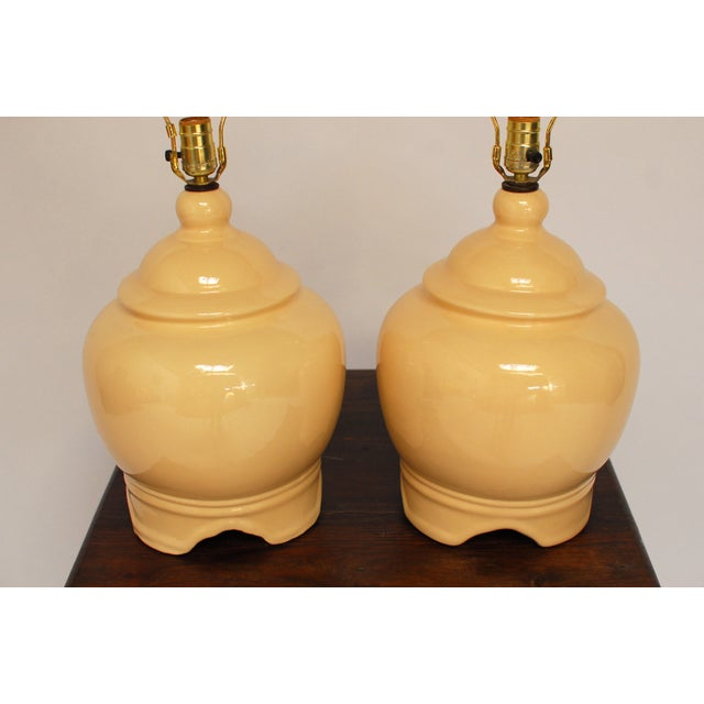 Vintage Ginger Jar Style Lamps - A Pair - Image 3 of 5