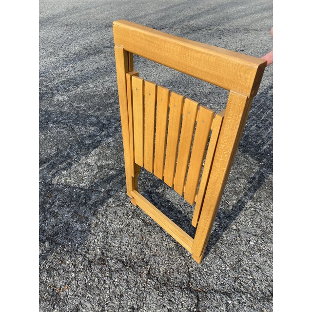 Vintage Maple Folding Chairs - Set of 4 For Sale - Image 10 of 11
