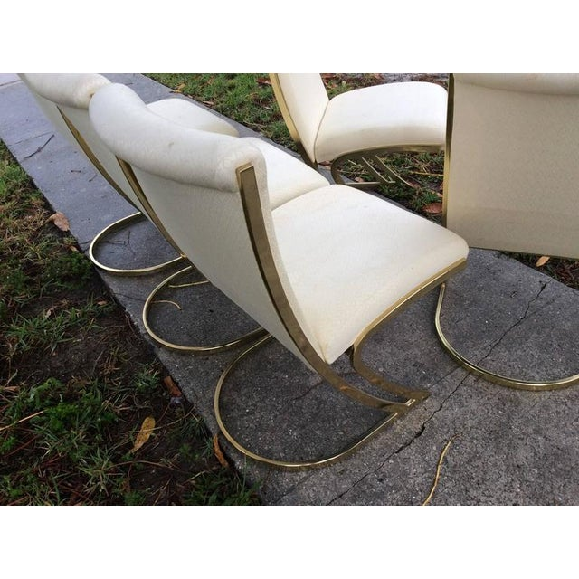 Pierre Cardin Vintage Brass Dining Chairs - Set of 6 For Sale - Image 9 of 12