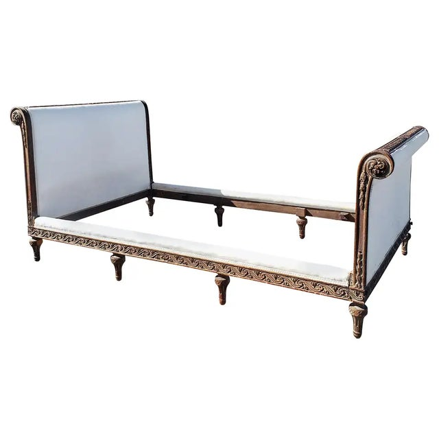 19th Century French Empire Hand Carved Twin Daybed For Sale - Image 10 of 10