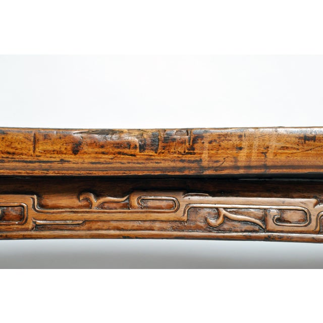 Wood Late Qing Dynasty Chinese Altar Table For Sale - Image 7 of 13