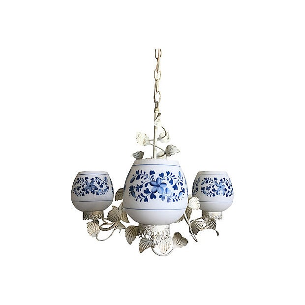Mid Century Floral Chandelier For Sale - Image 4 of 9