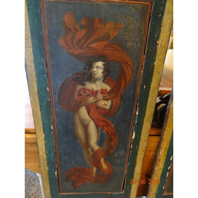 "A pair of architectural panels with stunning painting . Early 19th century ,Italian. Each panel measures 17"" wide. Top..."