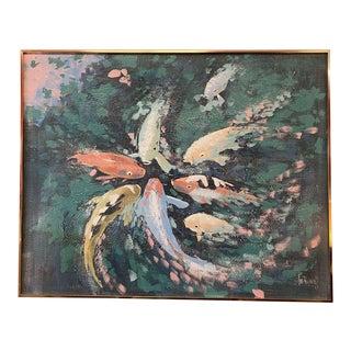 Lee Reynolds Vanguard Studio Koi Painting For Sale