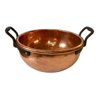 Hand Hammered Lacquered Copper Bowl