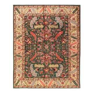 Pasargad Green Fine Sultanabad Rug- 9' X 12' For Sale