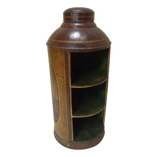 Chinoiserie Large Scale Tea Canister Book Case For Sale
