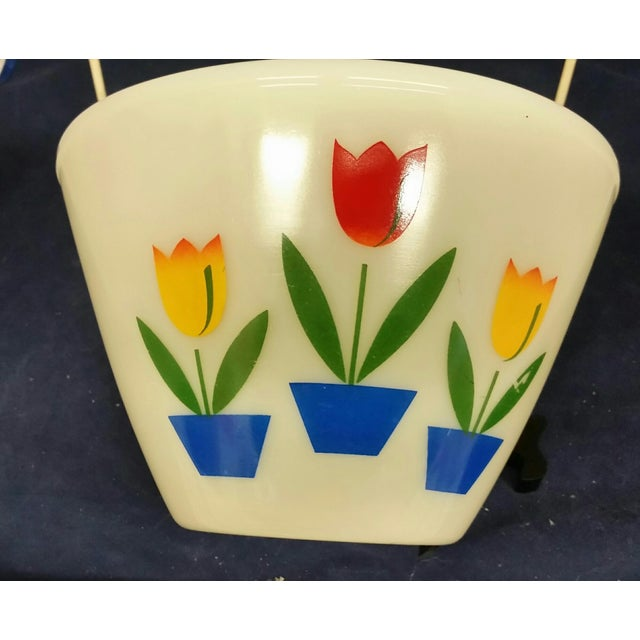 1950s Vintage Fire King Tulip Mixing Bowls - a Pair For Sale - Image 5 of 13