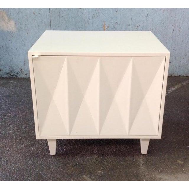 Erinn V. White Diamond Door Side Table - Image 2 of 5