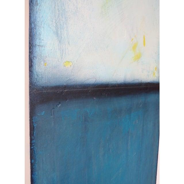 Blue Velvet Sunrise, I & II. Mixed Media Oil on Panel - Pair - Image 10 of 11
