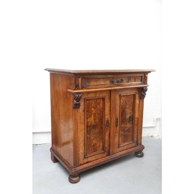 Biedermeier Style Walnut Cabinet, Germany, 1890 For Sale - Image 10 of 13