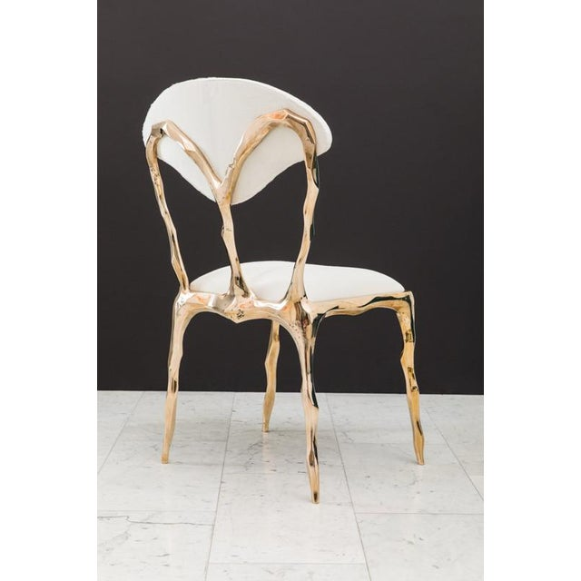 Markus Haase, Faceted Bronze Dining Chair, Usa, 2018 For Sale - Image 10 of 13