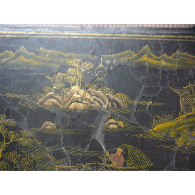 Vintage Chinese Rattan Lacquer Box - Image 3 of 6
