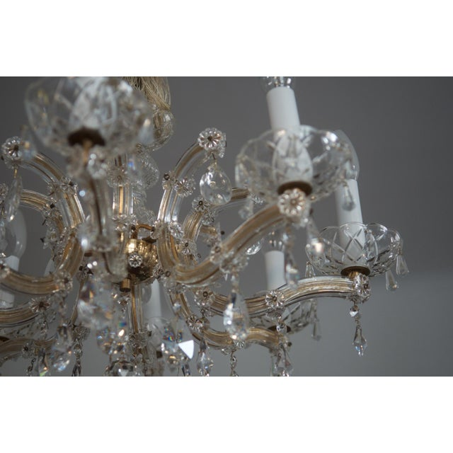 Brass Austrian Crystal Chandelier 1950s For Image 7 Of 9