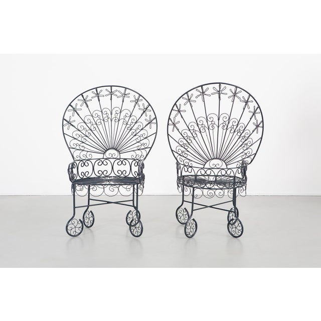 Mid-Century Modern Set of Salterini Peacock Chairs - a Pair For Sale - Image 3 of 12