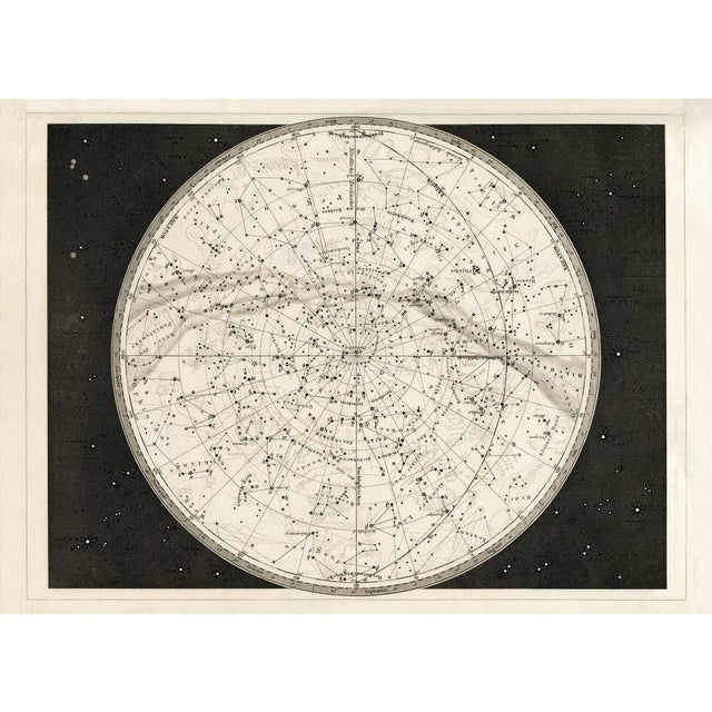 This 19th Century German Celestial star map provides endless exploration, packed with layers of constellation detail and...