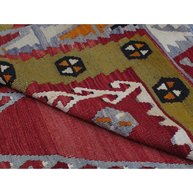 Red Sharkisla Kilim For Sale - Image 8 of 8