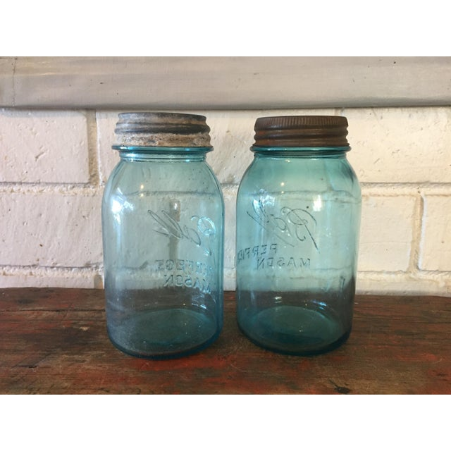 Vintage Blue Ball Mason Jars - A Pair - Image 4 of 11