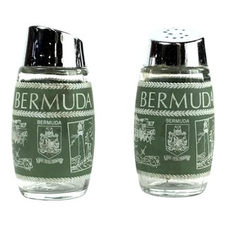 Vintage Souvenir Bermuda Salt & Pepper Shakers - a Pair For Sale
