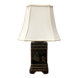 Vintage Wildwood Hand Painted Table Lamp For Sale