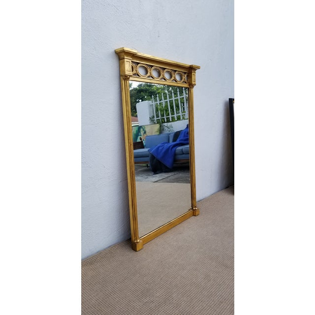 Hollywood Regency style John Widdicomb for Grand Rapids Fine Furniture. Features carved wood frame and gold painted...
