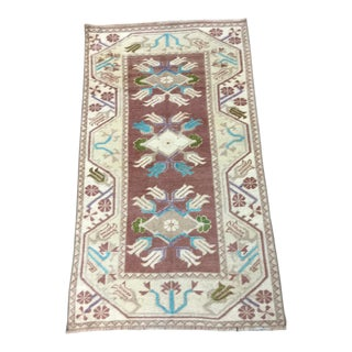 1990s Turkish Handmade Rug - 2′7″ × 4′5″ For Sale