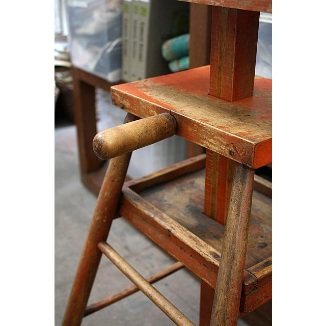 Traditional Woodworking Chairmaker's Stand For Sale - Image 3 of 5