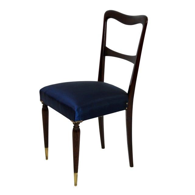 Italian A Set of Six Fine Italian Dining Chairs For Sale - Image 3 of 4