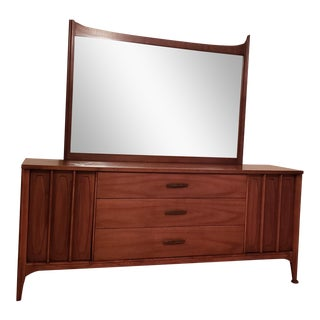 Mid-Century Modern Dresser & Mirror For Sale