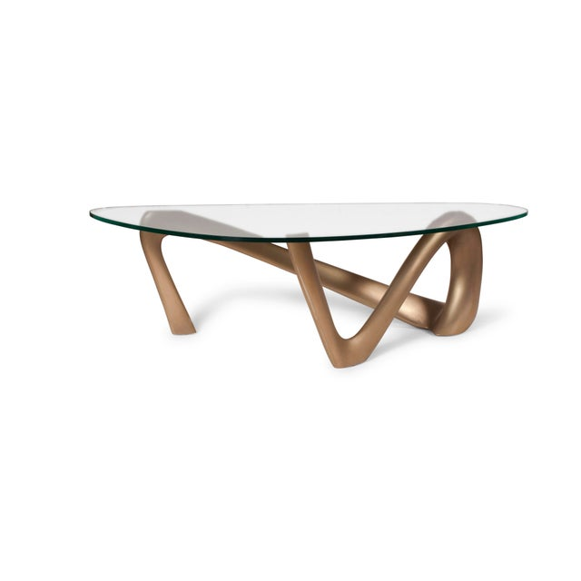 Gold Amorph Iris Coffee Table - Gold Finish For Sale - Image 8 of 9