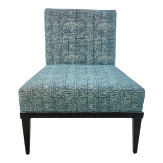 Modern Kravet Blue Milton Slipper Chair For Sale