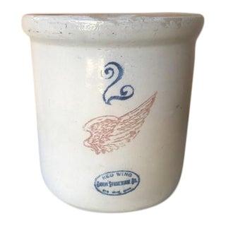 1930s 2 Gallon Stoneware Crock For Sale