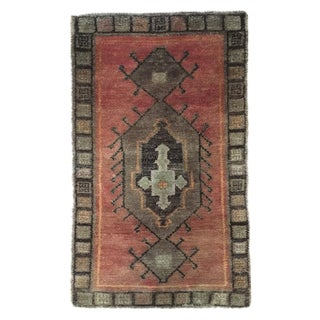 "Small Turkish Wool Oushak Rug - 1'10"" X 2'11"""