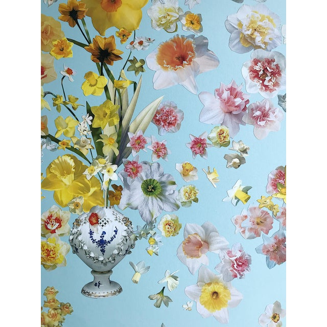 """Marcy Cook """"Vase of Daffodils"""" Original Fine Art Collage For Sale In Dallas - Image 6 of 7"""