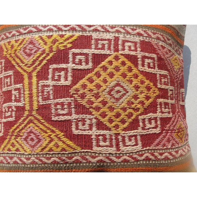 Islamic Kilim Rug Pillow For Sale - Image 3 of 11