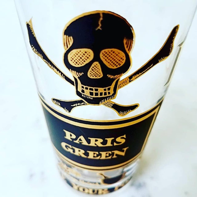 """This is a full set of 8 """"Name Your Poison"""" highball glasses by Georges Briard-- the epitome of """"cocktail cool"""". This..."""