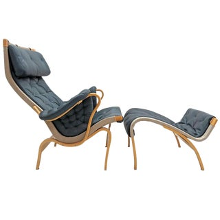 Bruno Mathsson for Dux Pernilla Lounge Chair & Ottoman For Sale