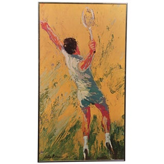 "LeRoy Neiman ""The Tennis Player"" Framed Print For Sale"